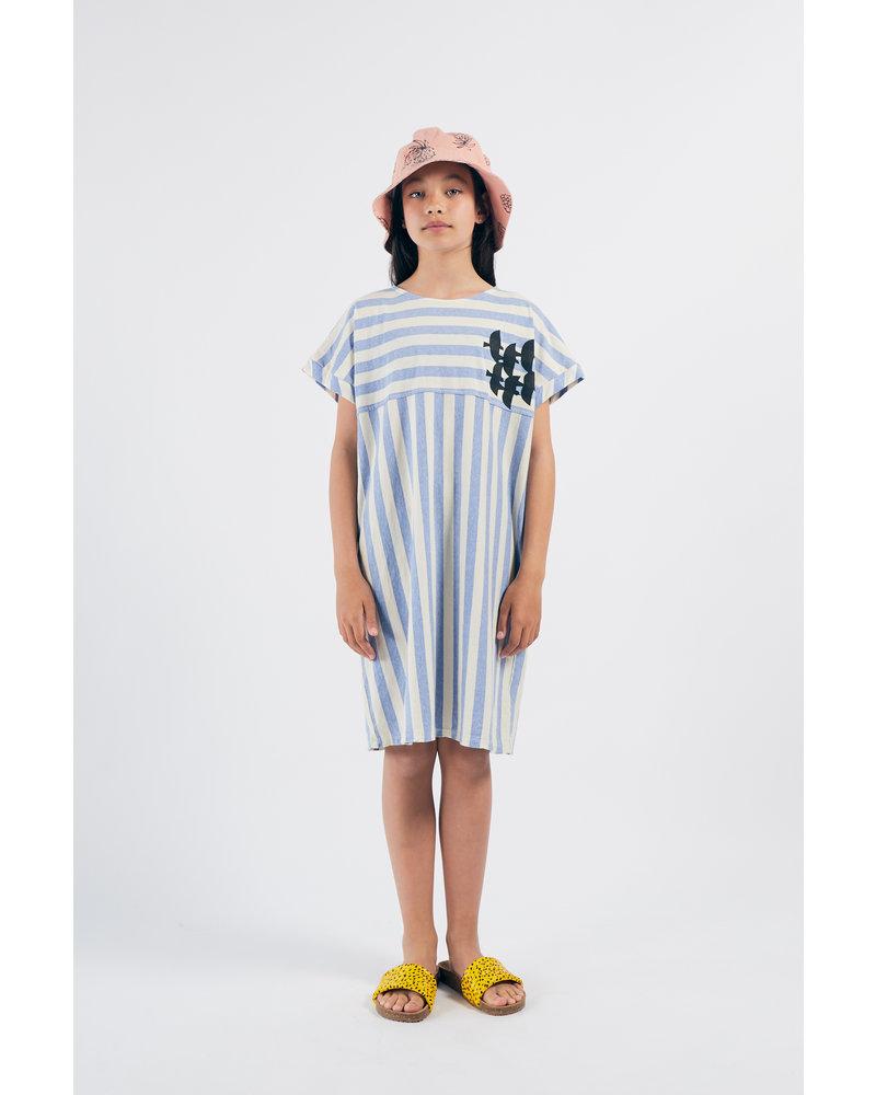 Dress - Flying Birds Striped
