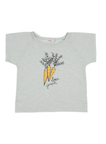 T-shirt - Drew Love Green misty blue
