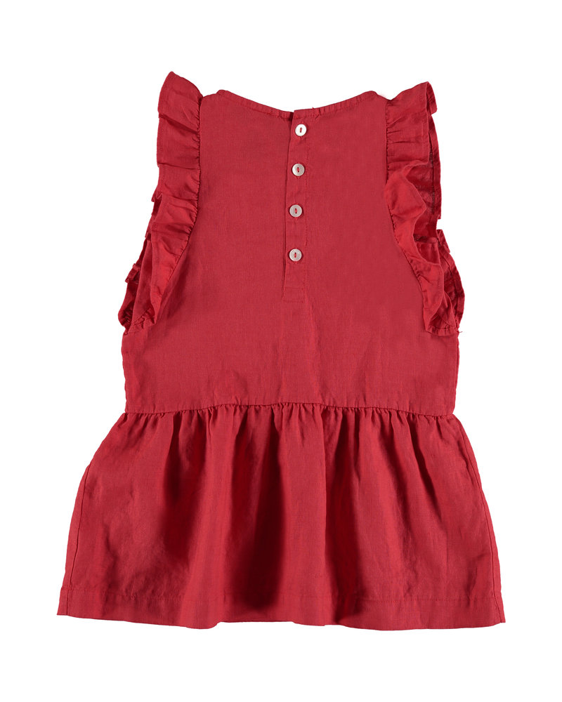 Bonmot Dress - Frilles Love Clay Red