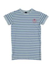 Bonmot T-shirt Dress - Thin Stripes Light Blue