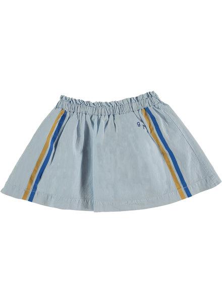 Bonmot Mini Skirt - Ruffle Brushstroke Light Blue