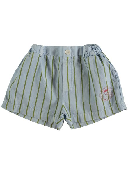 Bonmot Short - Button Thin Stripes Light Blue