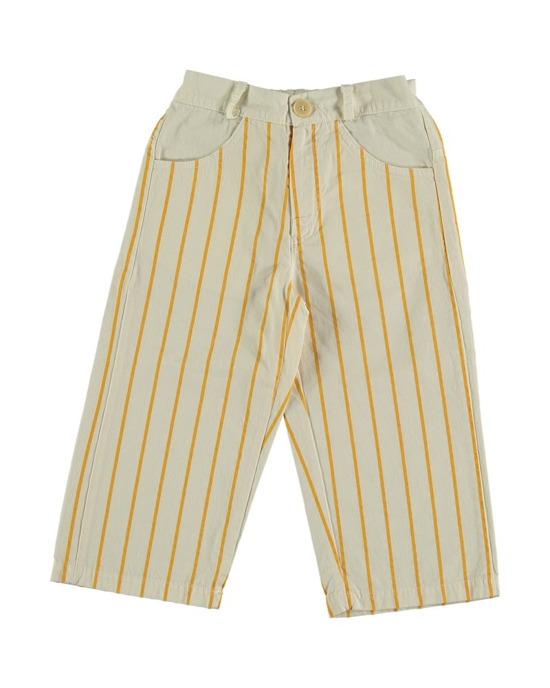 Bonmot Ankle Trouser - Thin Stripes Ivory