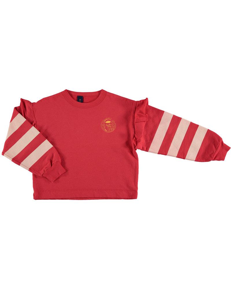 Bonmot Sweatshirt - Frilles Paintor Clay Red