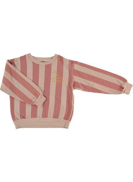 Bonmot Sweatshirt - Multi Stripes Dusty Coral