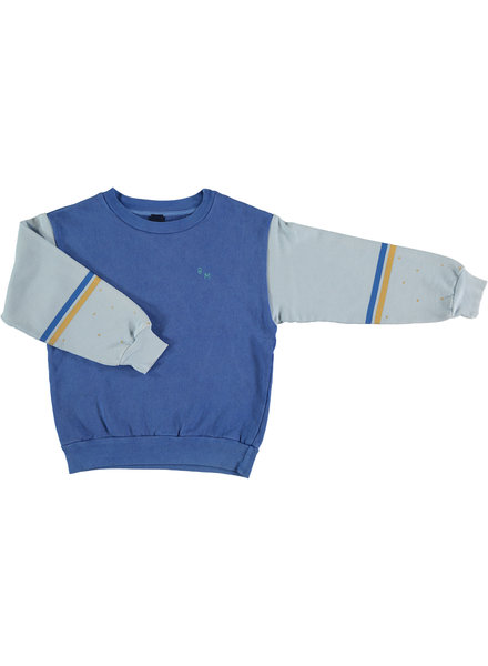 Bonmot Sweatshirt - Brushstroke Fresh Blue