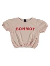 Bonmot T-shirt - Crop Bonmot Tan Cream
