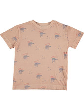 Bonmot T-shirt - Small Woodpekers Dusty Coral