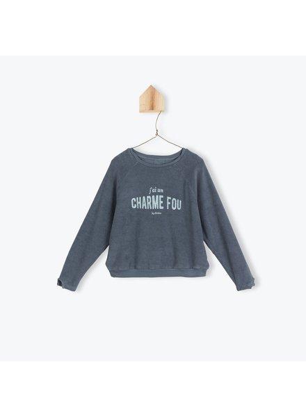 Sweater - eponge Charme Fou Ardoise