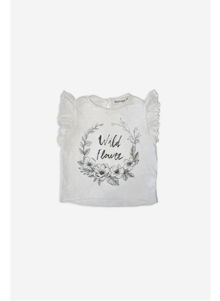T-shirt - Flowers Ecru