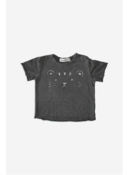 T-shirt - Face Tiger Stone Grey