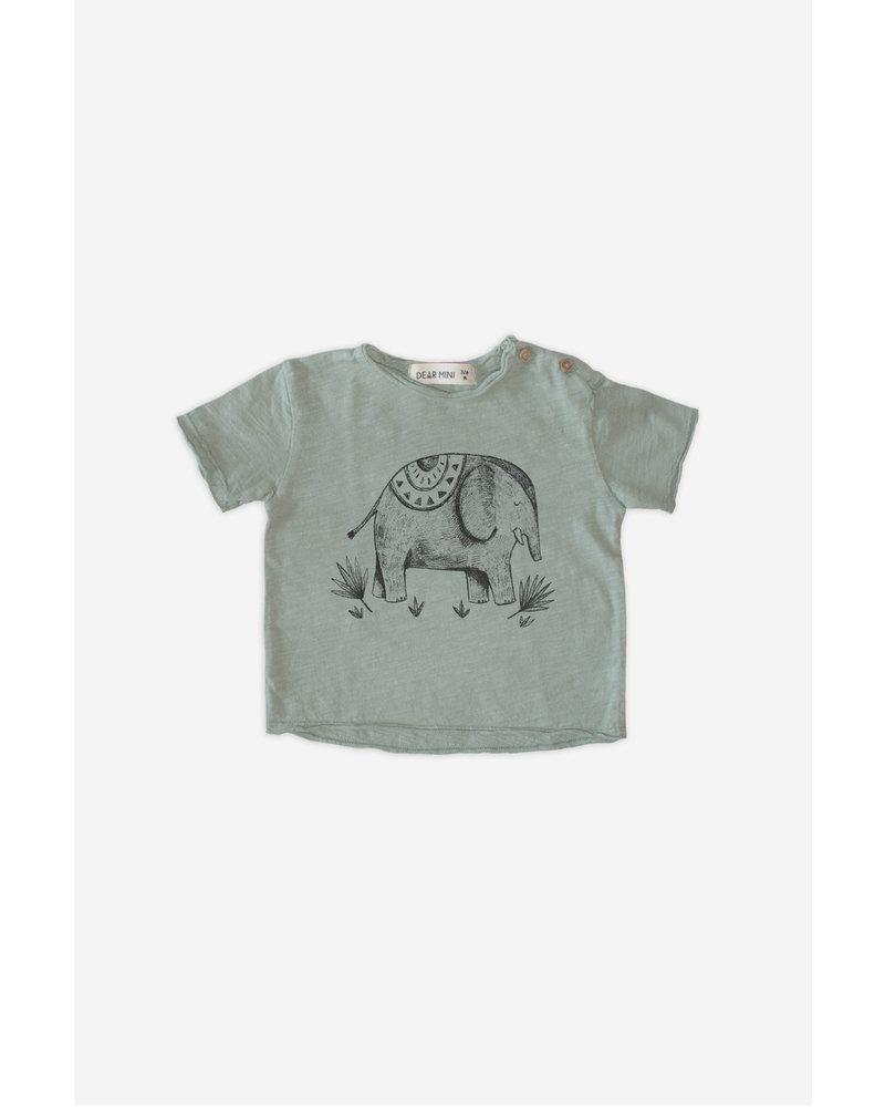 T-shirt - Elephant Sage Grey
