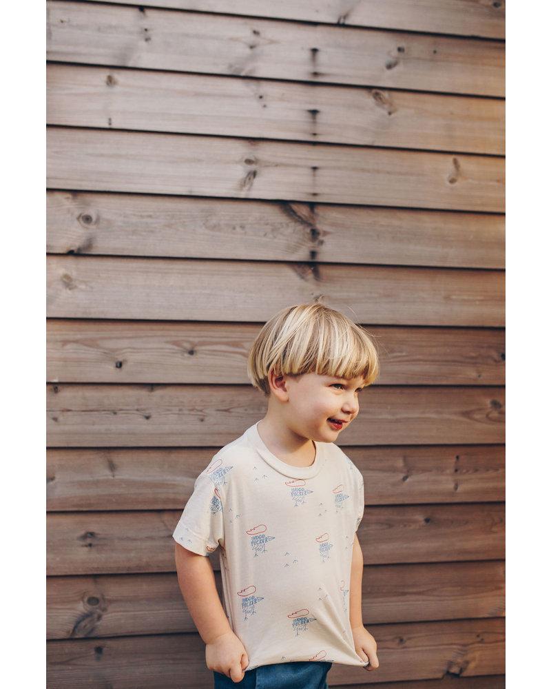 Bonmot T-shirt - Small Woodpekers Ivory