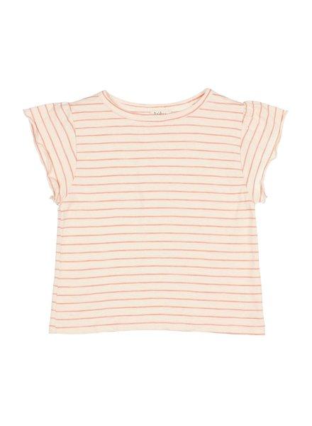 T-shirt - Philou Stripes coral