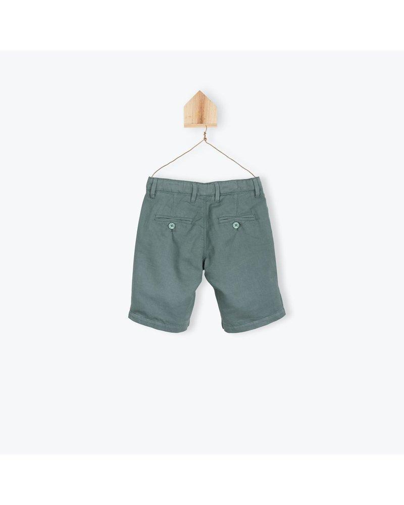 Bermuda - Coton Lin Sauge