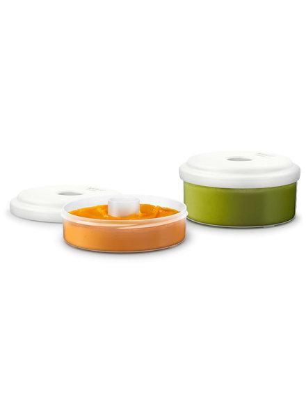 OUTLET // Herbruikbare bewaarpotjes 2 stuks (120ml en 240 ml)