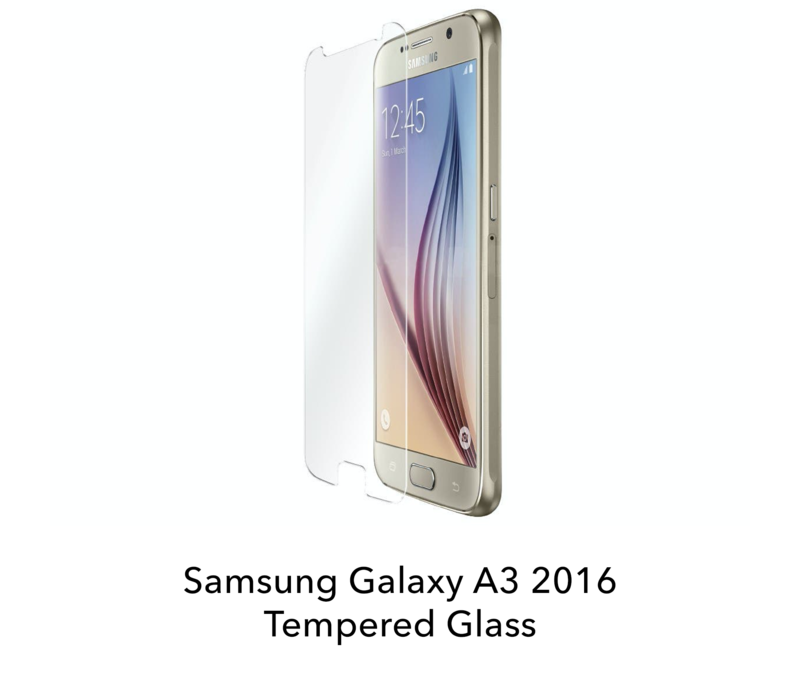 Galaxy A3 2016 - Tempered Hard Glass Screenprotector