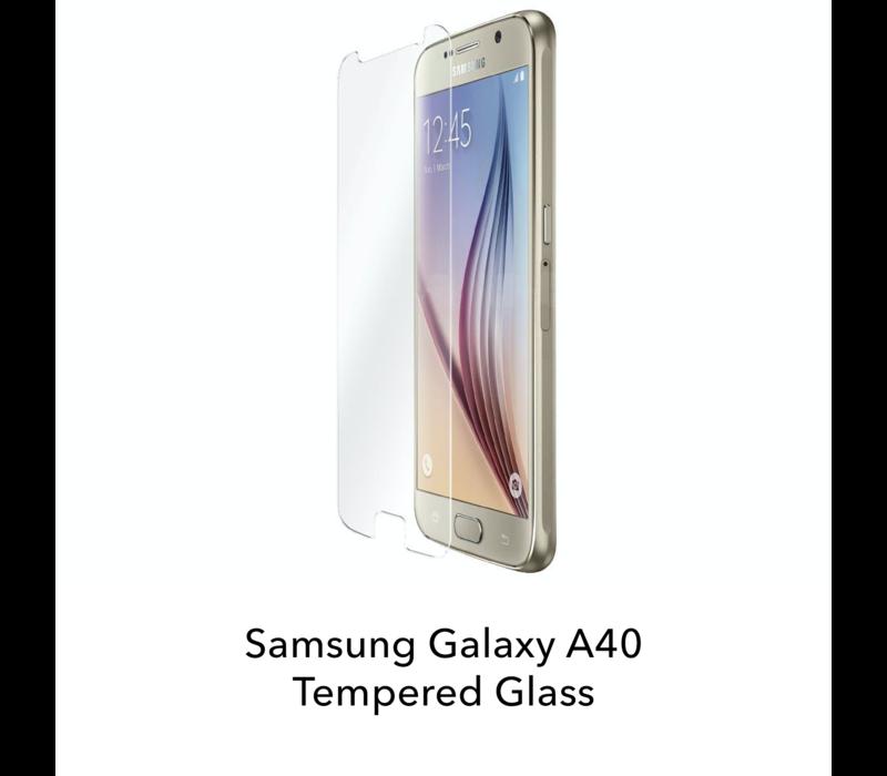 Galaxy A40 - Tempered Hard Glass Screenprotector