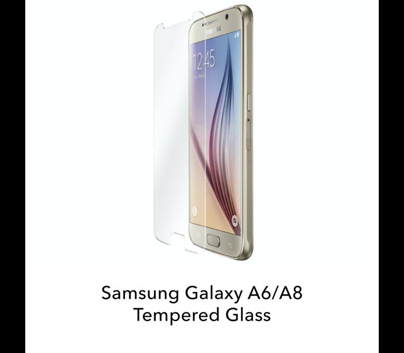 Galaxy A6/A8 - Tempered Hard Glass Screenprotector