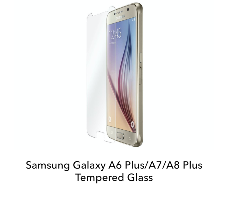 Galaxy A6 Plus/A7/A8 Plus - Tempered Hard Glass Screenprotector