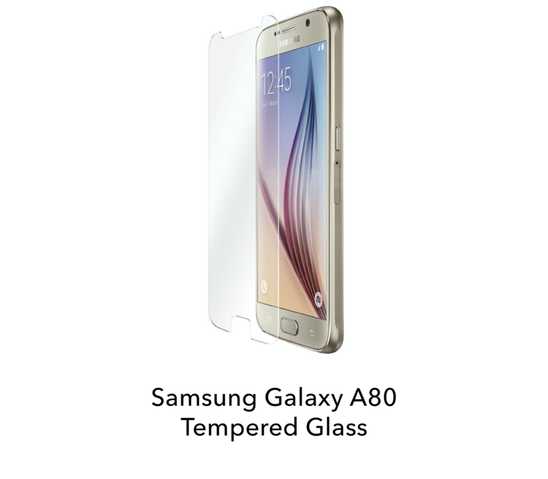 Galaxy A80 - Tempered Hard Glass Screenprotector