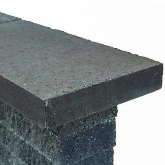 Wallblock afdekplaat Antraciet 60x30x6