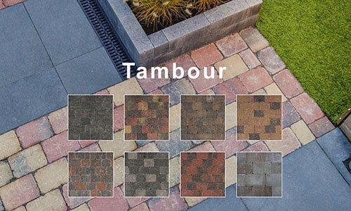 Tambour Betonstenen-Getrommelde Koppelstones