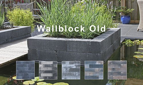 Wallblock Old-Getrommeld Stapelblok