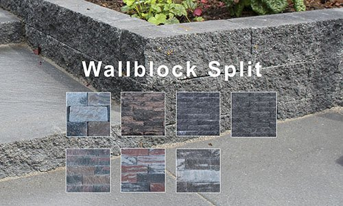 Wallblock Split-Ruw Stapelblok