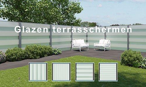 Glazen Terrasschermen
