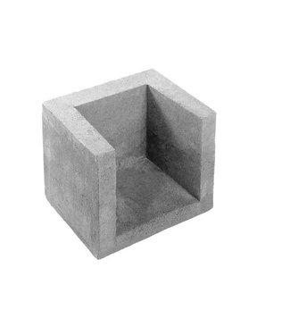 U-hoekelement Grijs 40x40x50