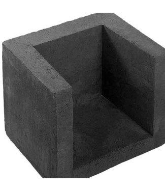 U-hoekelement Antraciet 40x40x50