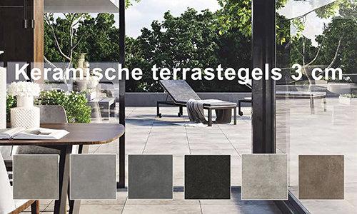 Keramische Terrastegels 60x60 3 cm