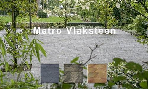 Metro vlaksteen door en door gekleurd