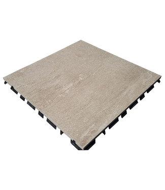 Ceramidrain Quartz Taupe 60x60x4
