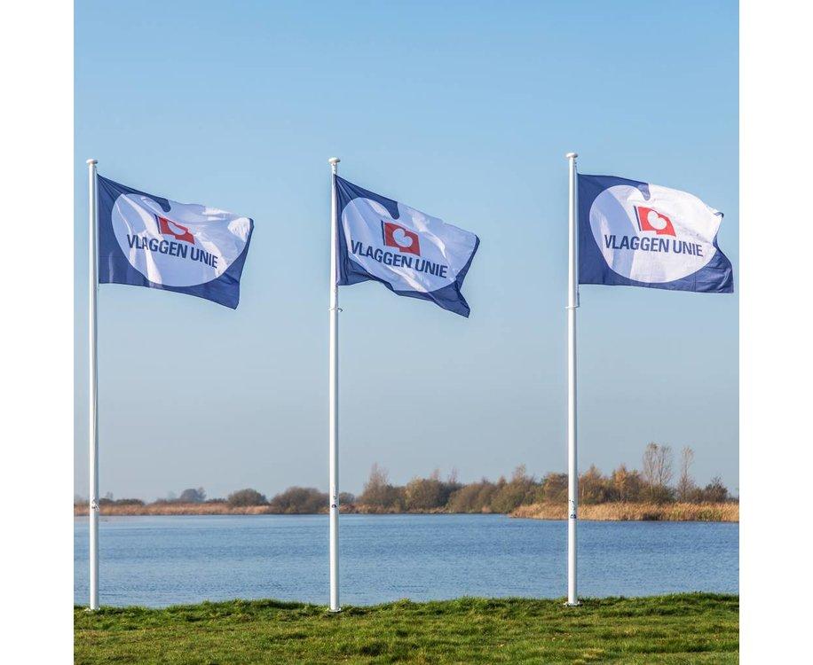 Vlaggenmast 6 meter + Bedrukte vlag