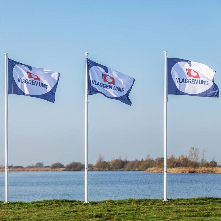 Vlaggenmast 8 meter + Bedrukte vlag