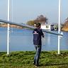 Vlaggenmast 9 meter + Bedrukte vlag