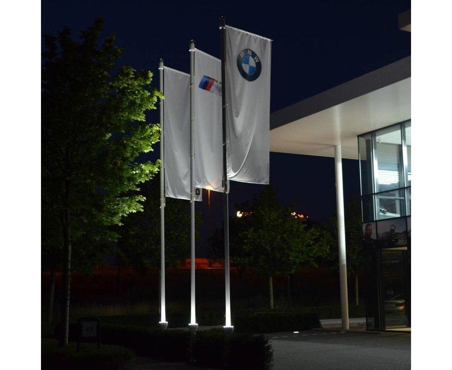 Vlaggenmast 7 meter + verlichting