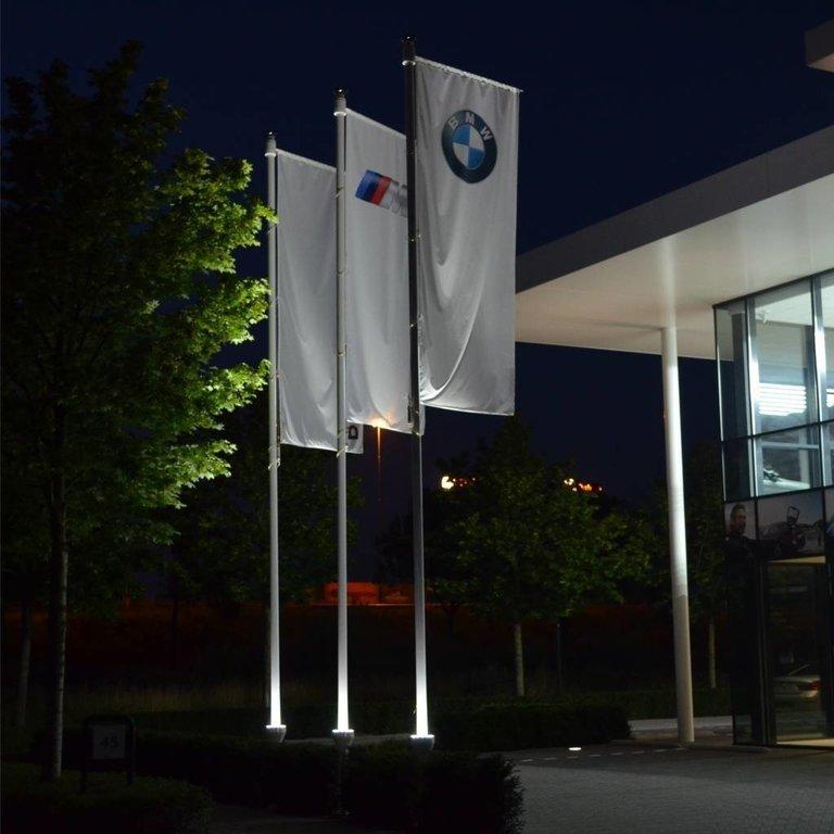 Vlaggenmast 8 meter + verlichting