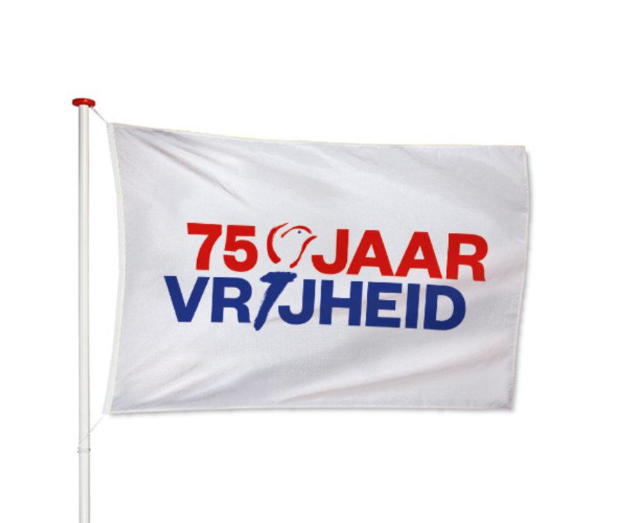 75 Jaar Vrijheid Vlag Wit