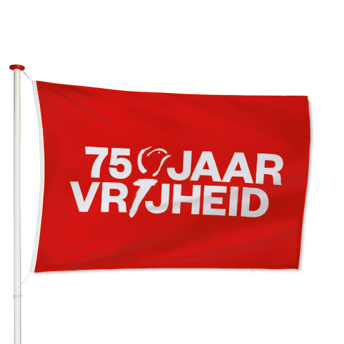 75 Jaar Vrijheid Vlag Rood