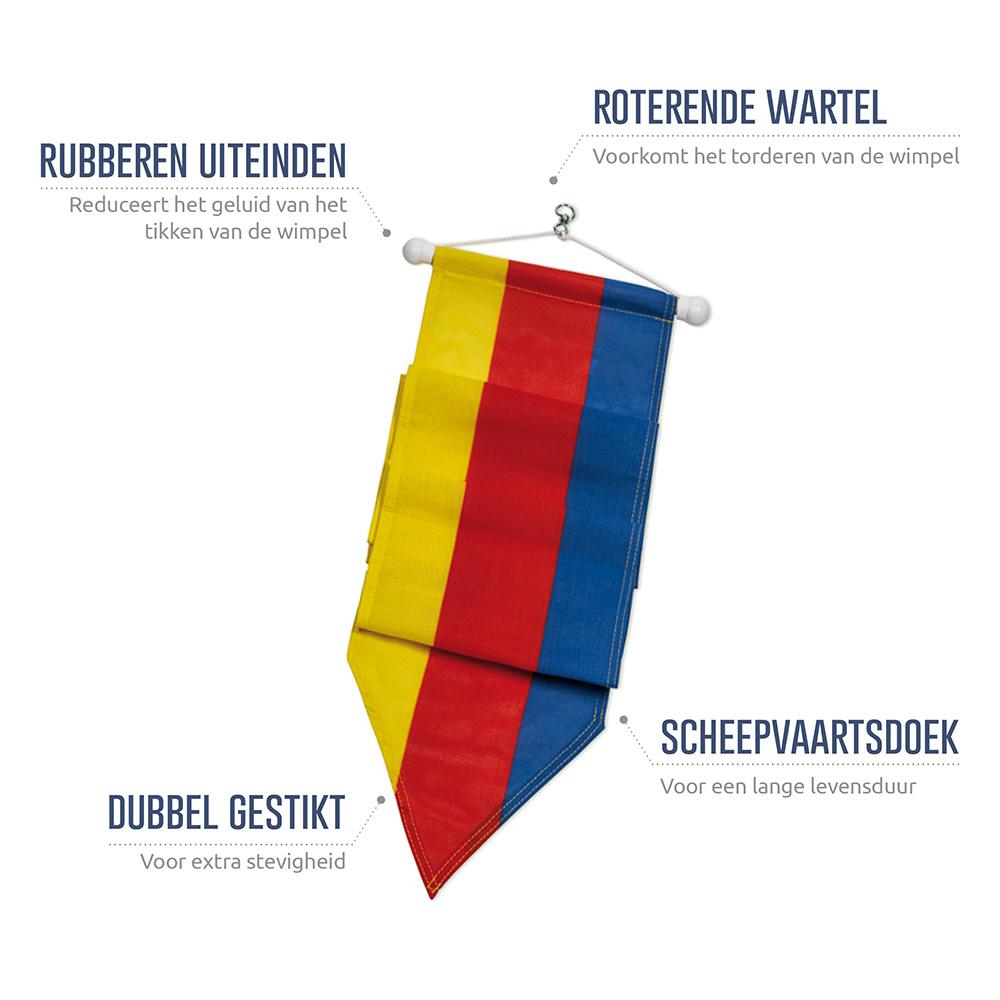 Wimpel Noord-Holland 300cm