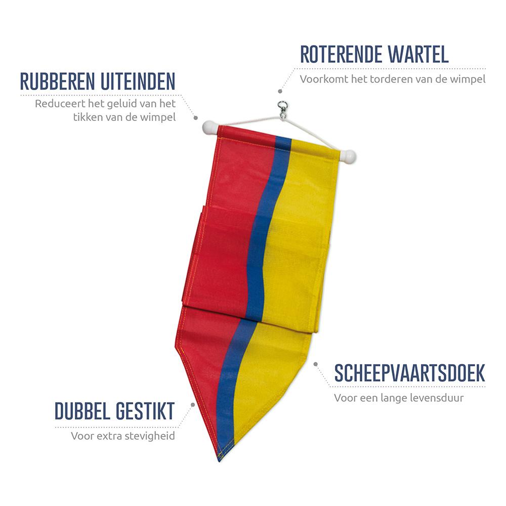 Wimpel Overijssel 300cm