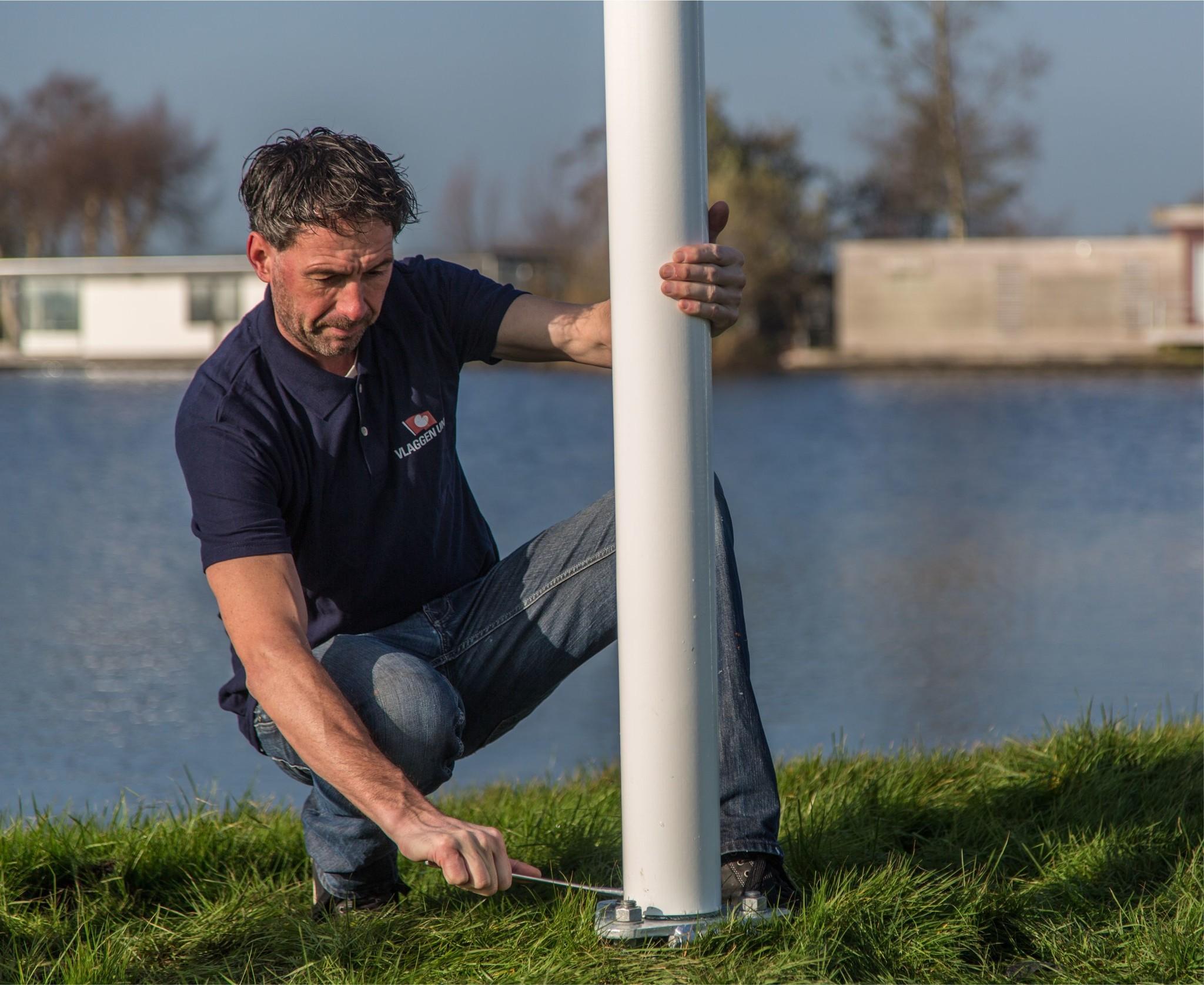 Aluminium vlaggenmast conisch 6 meter