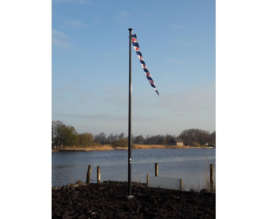 Polyester vlaggenmast conisch 8 meter