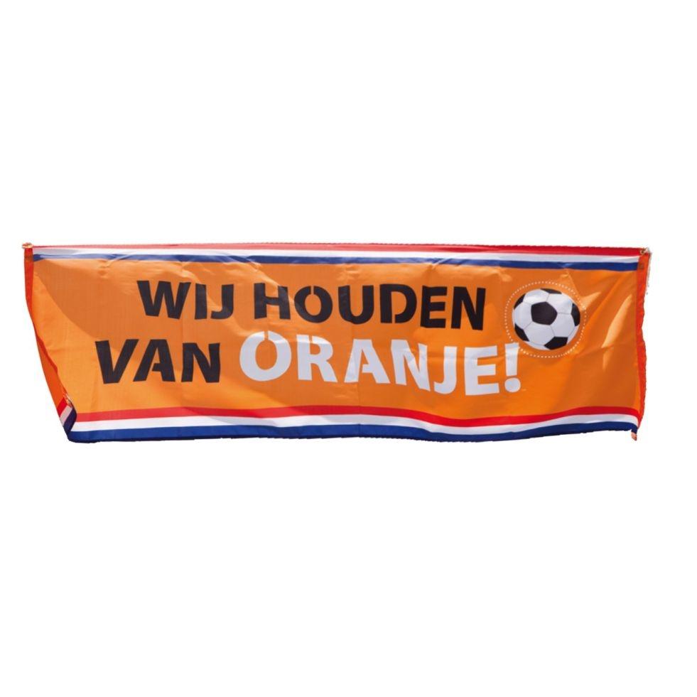 Spandoek Wij houden van Oranje