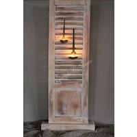 Smalle hoge staande shutter louvre luik - 91 x 30 cm