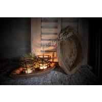 Houten Indiase ovale schaal