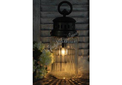 LifestyleByLeonie LED lamp France ribbel glas - maat M